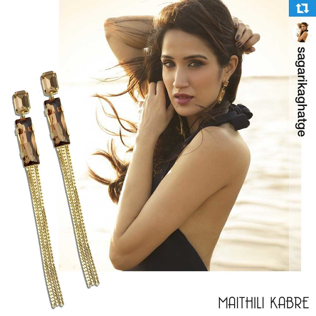 Sagarika-Ghatge-wearing-our-Long-Geometric-Earrings