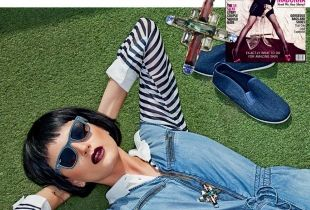 Cosmopolitain, June 2015 necklace geometric