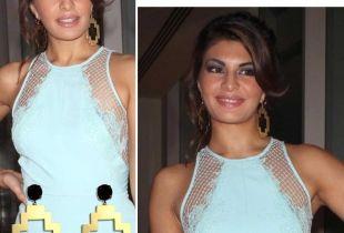 Jacqueline Fernandez in statement earrings