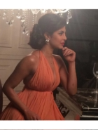 Priyanka Chopra in Vintage Pearl Earrings