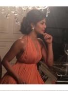 Priyanka Chopra in Vintage Pearl Earrings