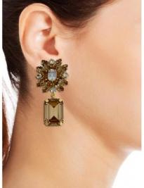 Gold Flower Earrings 2