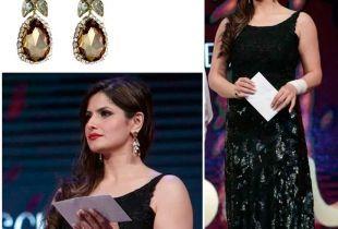 Zarine Khan, AIBA 2015 awards, red carpet fashion